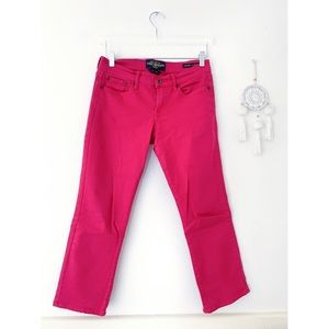 LUCKY BRAND Sweet N Crop Jeans 4 27 hot pink
